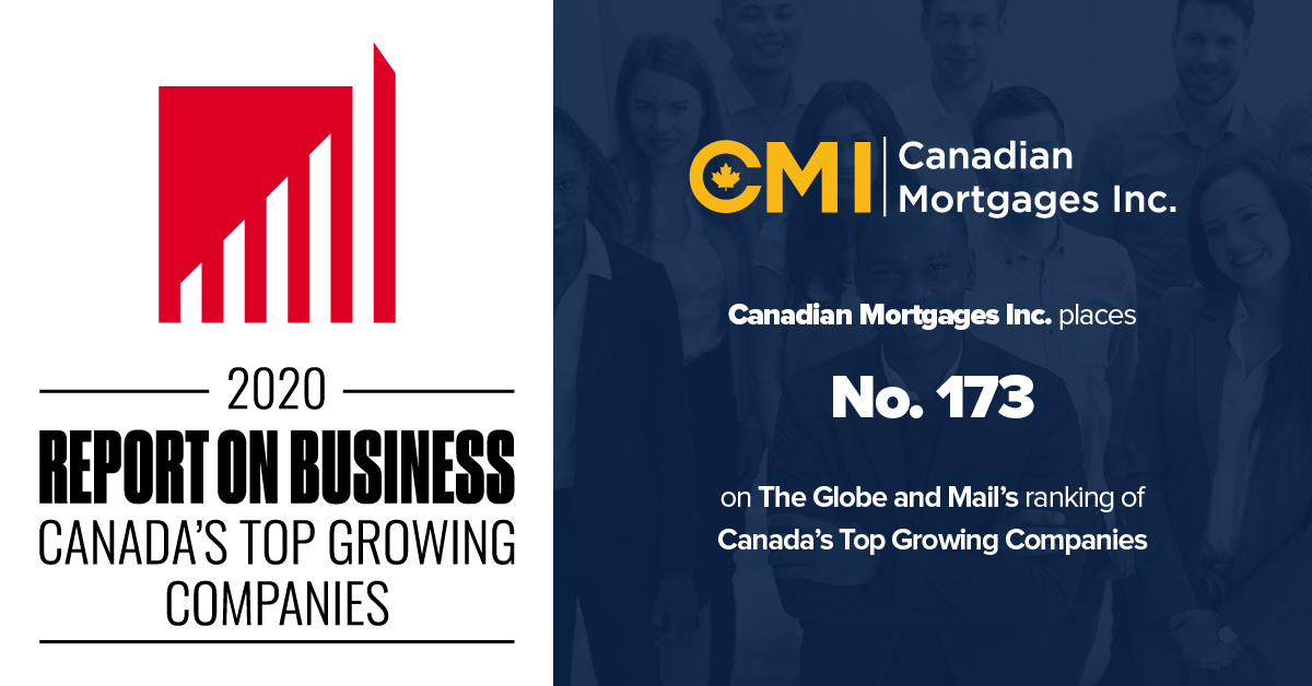 Canadian Mortgages Inc Canada's Top Growing Companies 2020
